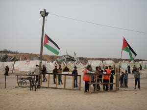 Samoud (Steadfastness) camp, where there are 110 tents for 830 families